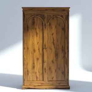 3D victorian wardrobe