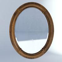 3D model victorian wall mirror