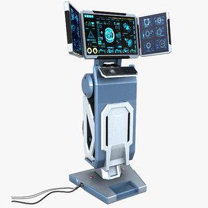 3D sci-fi monitor