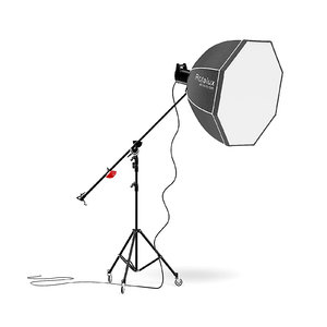 3D studio boom arm softbox model