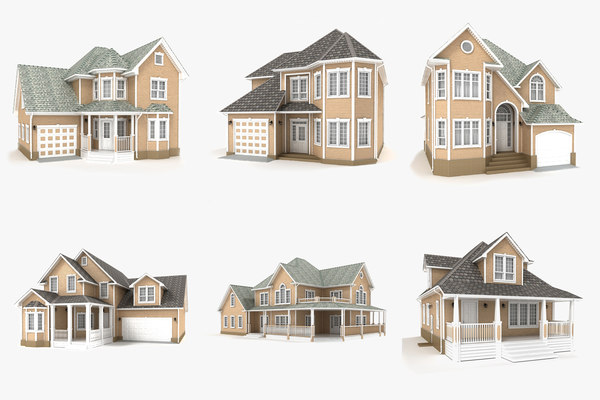 hi-poly cottages vol 13 3D model