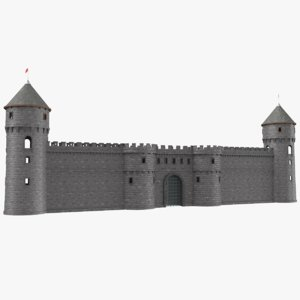 real castle gate 3D model