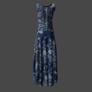 3D model dress batik