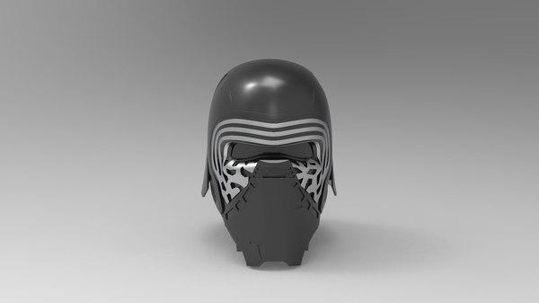 kylo ren helmet 3D model