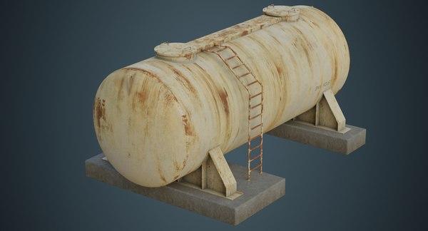 3D model industrial gas tank 4b