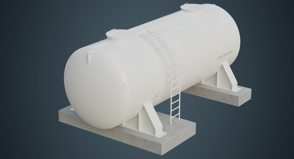 3D industrial gas tank contains