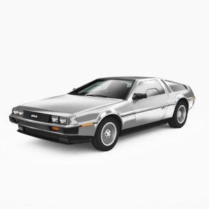 dmc delorean 1981 3D