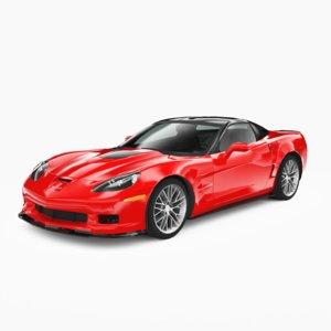 3D chevrolet corvette zr1 2010 model