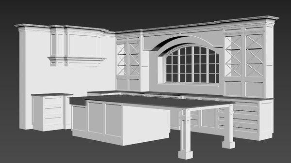 3D model classic kitchen
