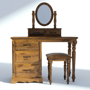 victorian furniture set 3D model