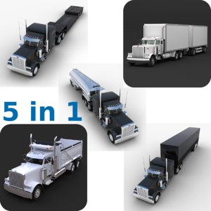 obj semi truck