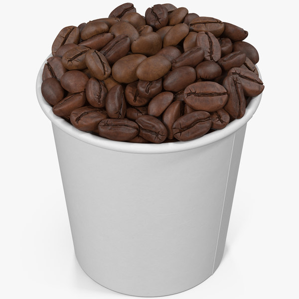 coffee beans roasted cup 3D
