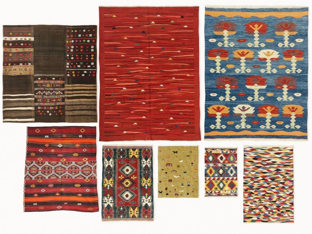 Model Vintage Turkish Kilim Rugs