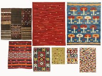 3D model vintage turkish kilim rugs