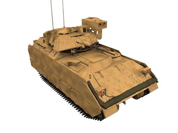 3D bradley m2 m2a2 model