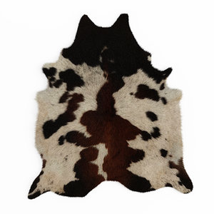 3D wool black brown spotted