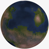 fictional alien planet 3D model
