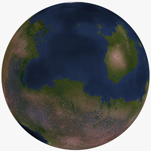 fictional alien planet 3D model