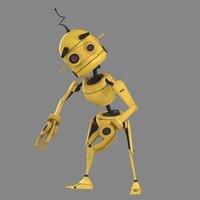 Yellow robot puppet v2