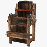 torture iron chair 3D model