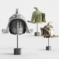 3D gladiator helmets