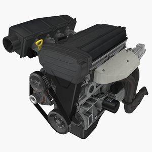 3D model parts toyota 4a-ge blacktop