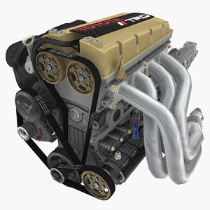 4a-ge engines formula atlantic 3D model