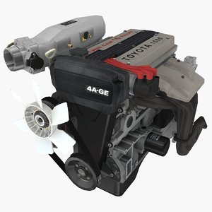 3D parts toyota 4a-ge engine model