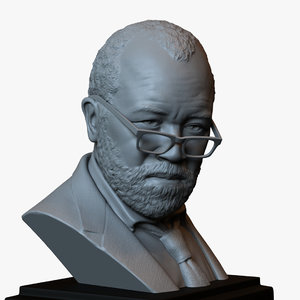 printable bust portrait bernard 3D model