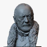 bust davos seaworth thrones 3D model