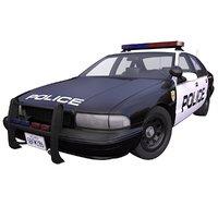 3D generic american police car model