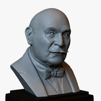 Hercule Poirot - David Suchet - 3d printable bust - portrait 3D print model