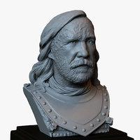 3D model bust portrait sandor clegane