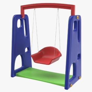3D model swing games chair