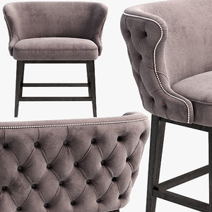 3D belair bar stool bench model