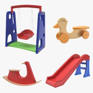 3D swing toy model