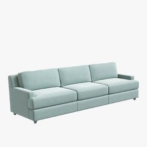 baker pasha sofa jacques 3D