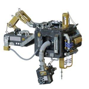 3D model roughness metallic