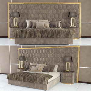 fur bed dv home 3D model