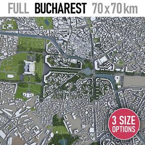 3D bucharest surrounding -