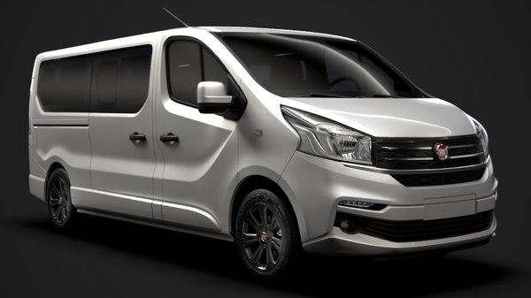 3D model fiat talento minibus spaceclass