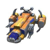 space corvette fighter 3D