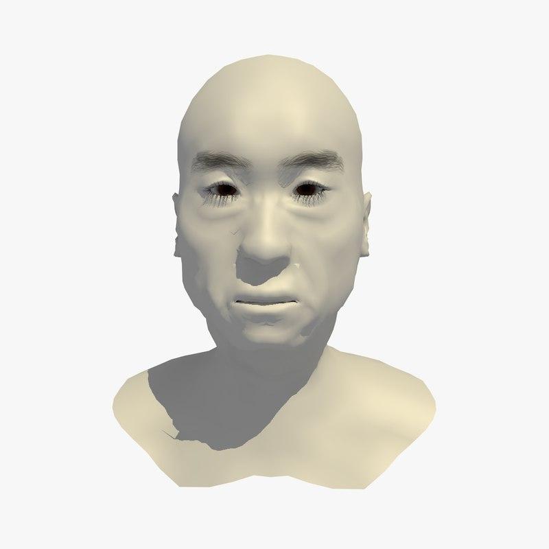 realistic head base mesh 3D model
