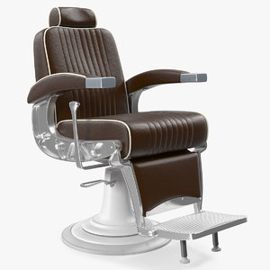 3D antique barber chair hair