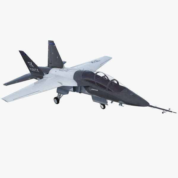 3D boeing t-x advanced pilot model