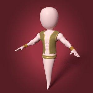 stickman djinn 3D