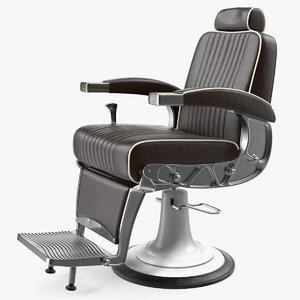 3D vintage barber chair hair