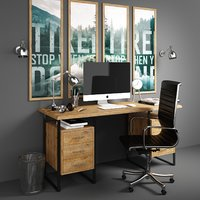 3D model set workplace