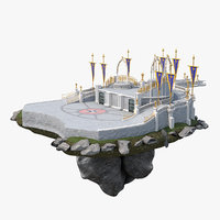 castle courtyard 3D model