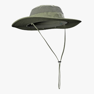 green outdoor fishing hat 3D model